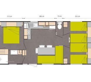 plan mobil-home Forêt