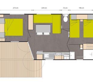 cottage accommodation layout