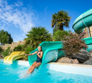 Outdoor water slides